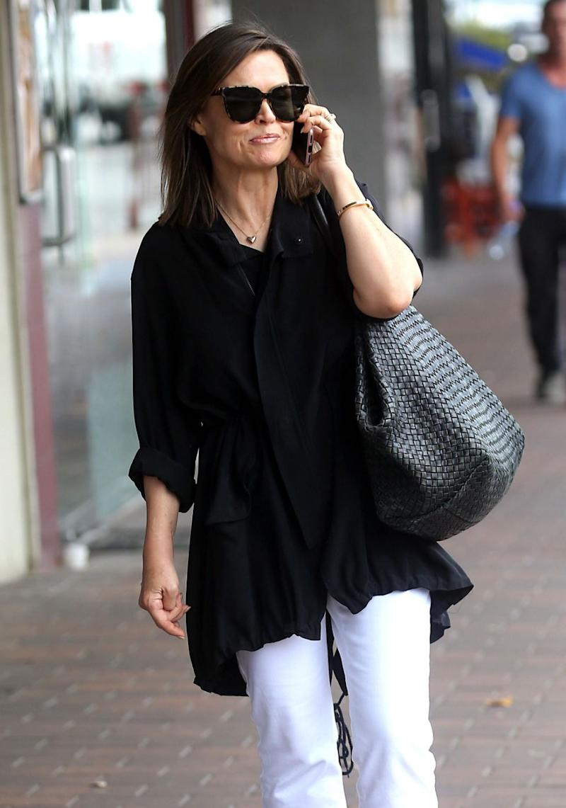The TV star kept her look cool and casual. Source: Diimex
