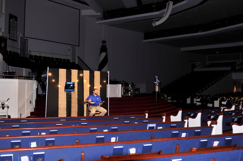 Minister to College Students at Rock Springs Baptist Church delivers an 11 a.m. daily devotional by live streaming