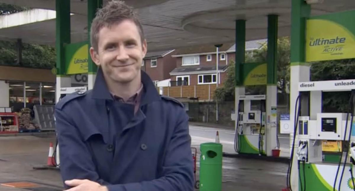 Viewers spot 'brilliant' coincidence during BBC reporter's live cross