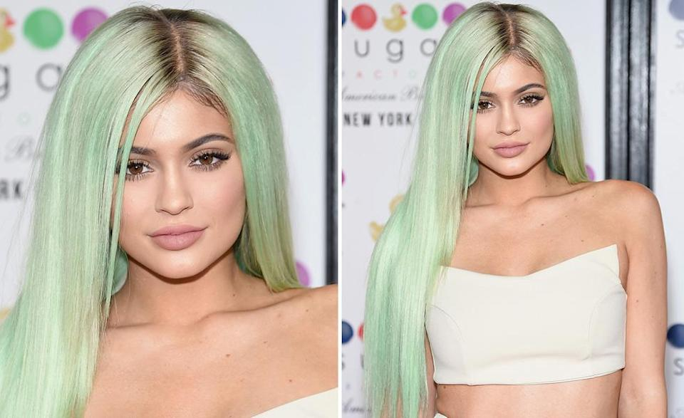Kylie Jenner may be trading in her colorful wigs for something more natural. (Photo: Getty Images)