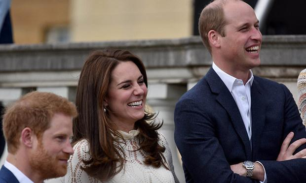 All the pictures from Prince William, Kate and Prince Harry's Buckingham Palace tea party