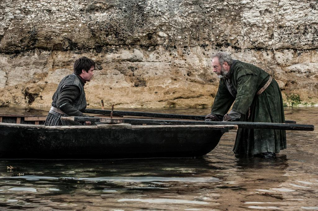 "Joe Dempsie and Liam Cunningham in the ""Game of Thrones"" Season 3 finale, ""Mhysa."""