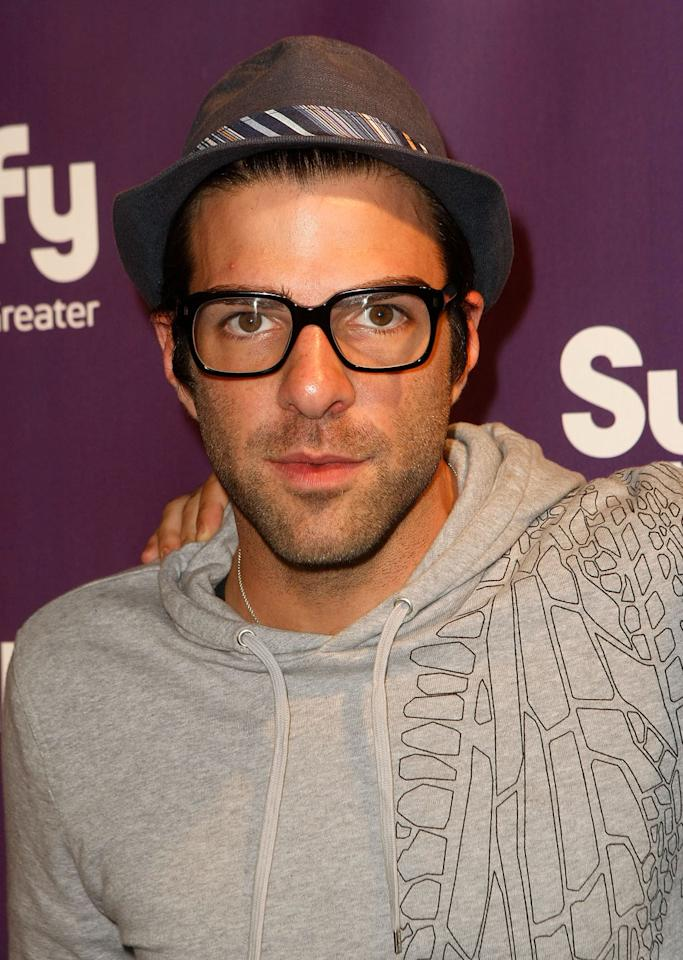 """<a href=""""/zachary-quinto/contributor/847104"""">Zachary Quinto</a> (<a href=""""/heroes/show/39435"""">""""Heroes""""</a>) attends the Entertainment Weekly/Syfy party during Comic-Con on July 25, 2009."""