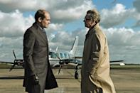 """<p>You know things are serious when you're forced out of retirement to handle a mission. During the Cold War, a veteran (Gary Oldman) works to uncover a Soviet agent within MI6. The film is based on the novel of the same name and also stars Colin Firth, Benedict Cumberbatch, and Tom Hardy.</p> <p><a href=""""https://www.amazon.com/Tinker-Tailor-Soldier-Gary-Oldman/dp/B0079LJZG8"""" rel=""""nofollow noopener"""" target=""""_blank"""" data-ylk=""""slk:Available to stream on HBO Max"""" class=""""link rapid-noclick-resp""""><em>Available to stream on HBO Max</em></a></p>"""