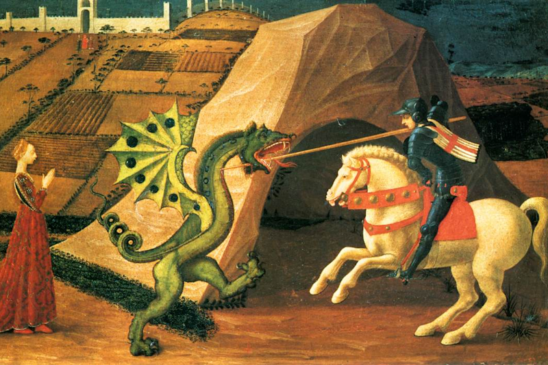 Saint George and the Dragon by Paolo Uccello: Creative Commons