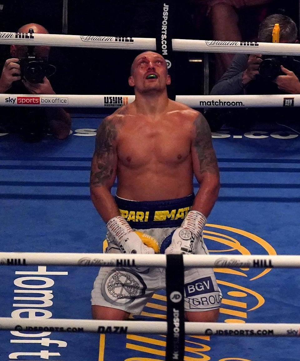 London has been kind to Oleksandr Usyk (Nick Potts/PA) (PA Wire)