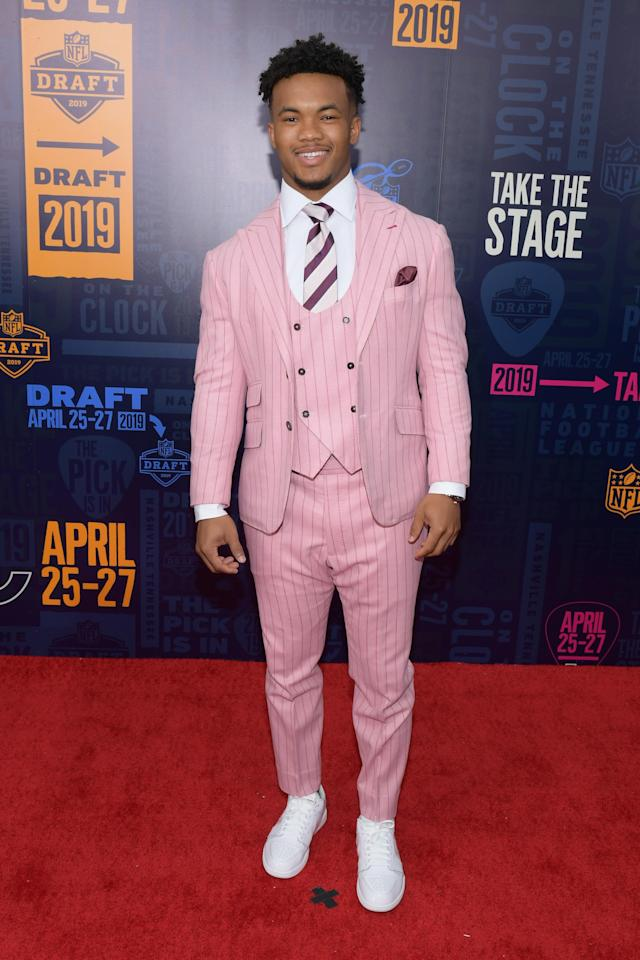 Football player Kyler Murray attends the 2019 NFL Draft on April 25, 2019 in Nashville, Tennessee. (Photo by Jason Kempin/Getty Images)