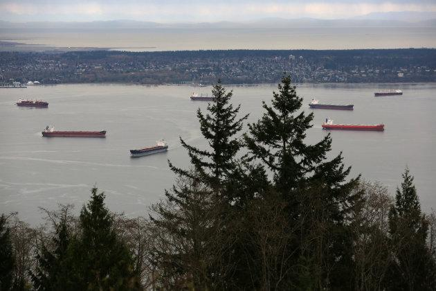 The Port of Vancouver would see a seven-fold increase in the number of oil tankers if the Trans Mountain pipeline is built.