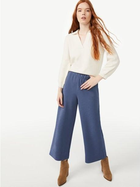 <p>The <span>Free Assembly Women's Pull On Crepe Pants</span> ($28) feel like cozy loungewear but look like super chic and sophisticated trousers. They have a wide-leg silhouette and an elasticized waistband - need we say any more?</p>