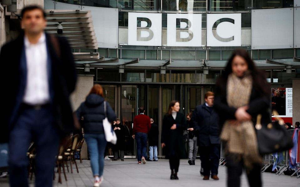 The corporation has told the over-75s they will not be prosecuted for watching television without a licence - for now - HENRY NICHOLLS/REUTERS