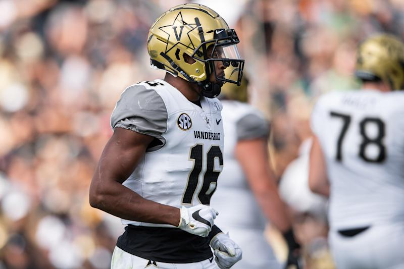 Vanderbilt WR Kalija Lipscomb is a tricky study for the 2020 NFL draft right now. (Getty Images)