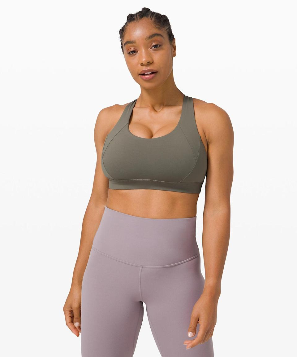 <p>For fall, I want this green <span>Lululemon Free to Be Elevated Bra</span> ($52).</p>