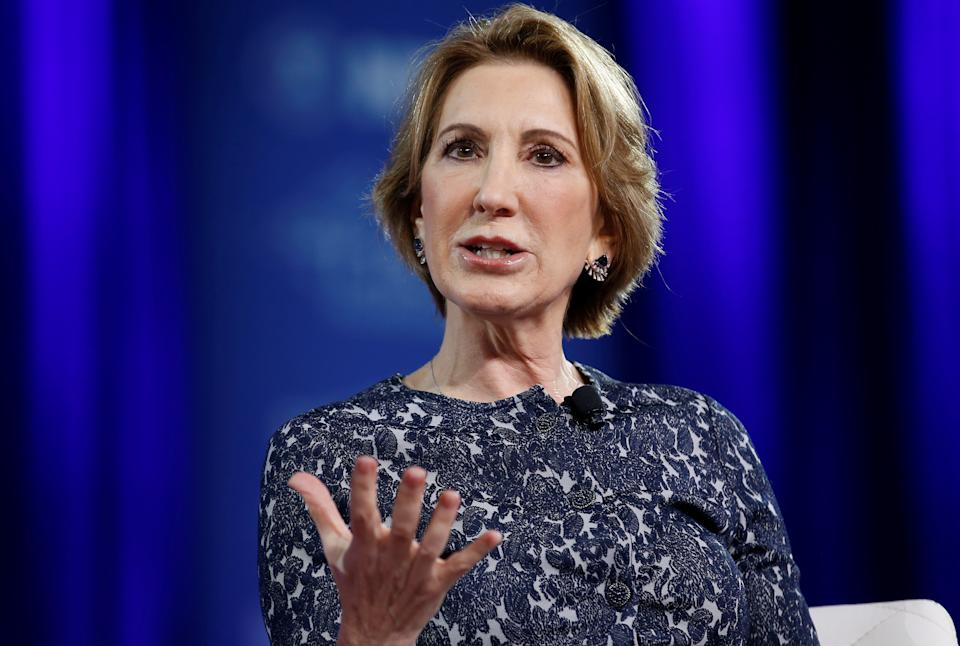 Former Republican presidential candidate Carly Fiorina speaks at the Conservative Political Action Conference (CPAC) in Oxon Hill, Maryland, U.S. February 24, 2017. REUTERS/Joshua Roberts
