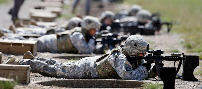 Female soldiers on Sept. 18, 2012, in Fort Campbell, Kentucky.
