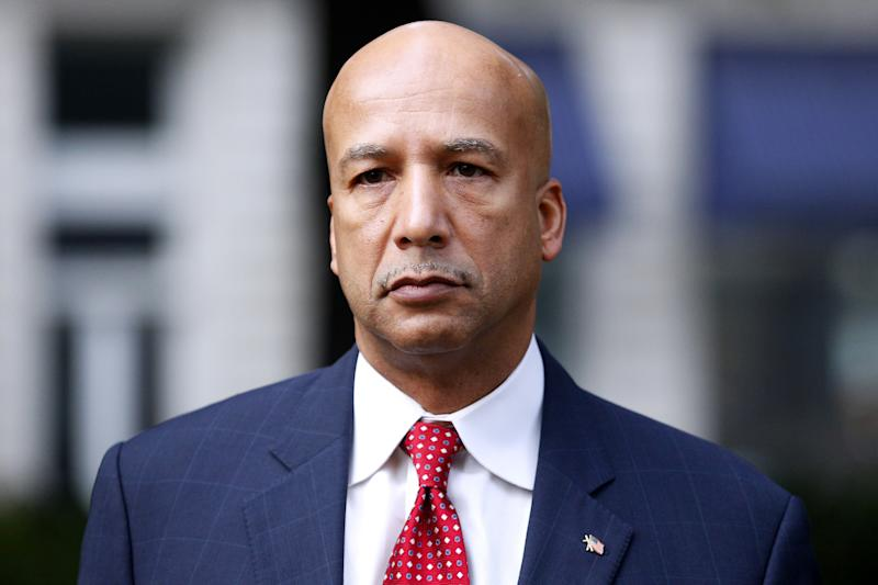 FILE - In this Jan. 27, 2014, file photo, former New Orleans Mayor Ray Nagin arrives at the Hale Boggs Federal Building in New Orleans. On Wednesday, Feb. 12, 2014, a federal jury convicted Nagin on charges that he accepted bribes, free trips and other gratuities from contractors in exchange for helping them secure millions of dollars in city work while he was in office. (AP Photo/Jonathan Bachman, File)