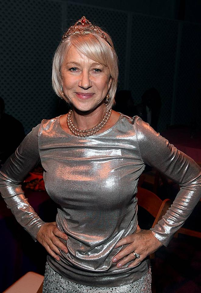 "Helen Mirren got quite comfortable wearing the crown jewels while filming her Oscar-winning role as ""The Queen."" Frazer Harrison/<a href=""http://www.gettyimages.com/"" target=""new"">GettyImages.com</a> - February 17, 2007"