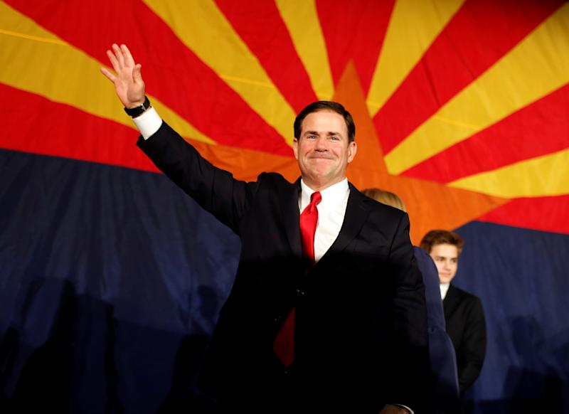Maybe Doug Ducey wasn't all that mad at Nike to to begin with. (Retuers)