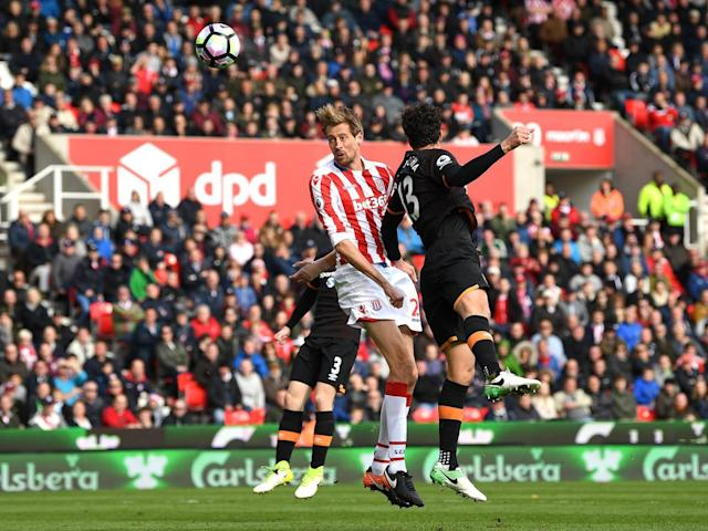 Stoke's lead was restored through the head of Peter Crouch (Getty)
