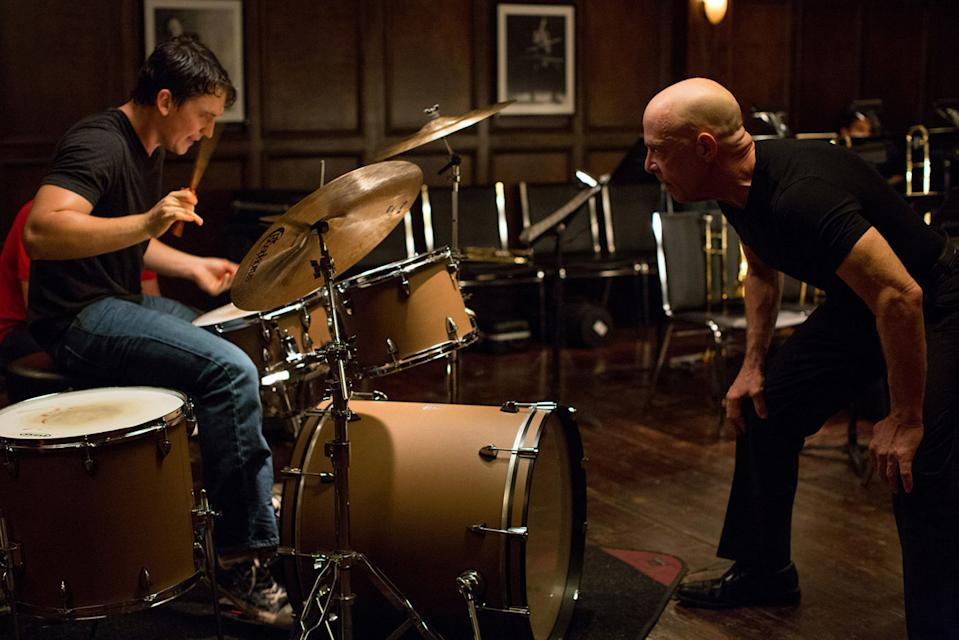 Miles Teller and JK Simmons in a still from Whiplash (Sony Pictures)