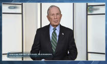 In this image from video, Michael Bloomberg speaks during the White House Climate Leaders Summit, Friday, April 23, 2021. The White House is bringing out the billionaires, the CEOs and the union executives Friday to help sell President Joe Biden's climate-friendly transformation of the U.S. economy at his virtual summit of world leaders. (AP Photo)