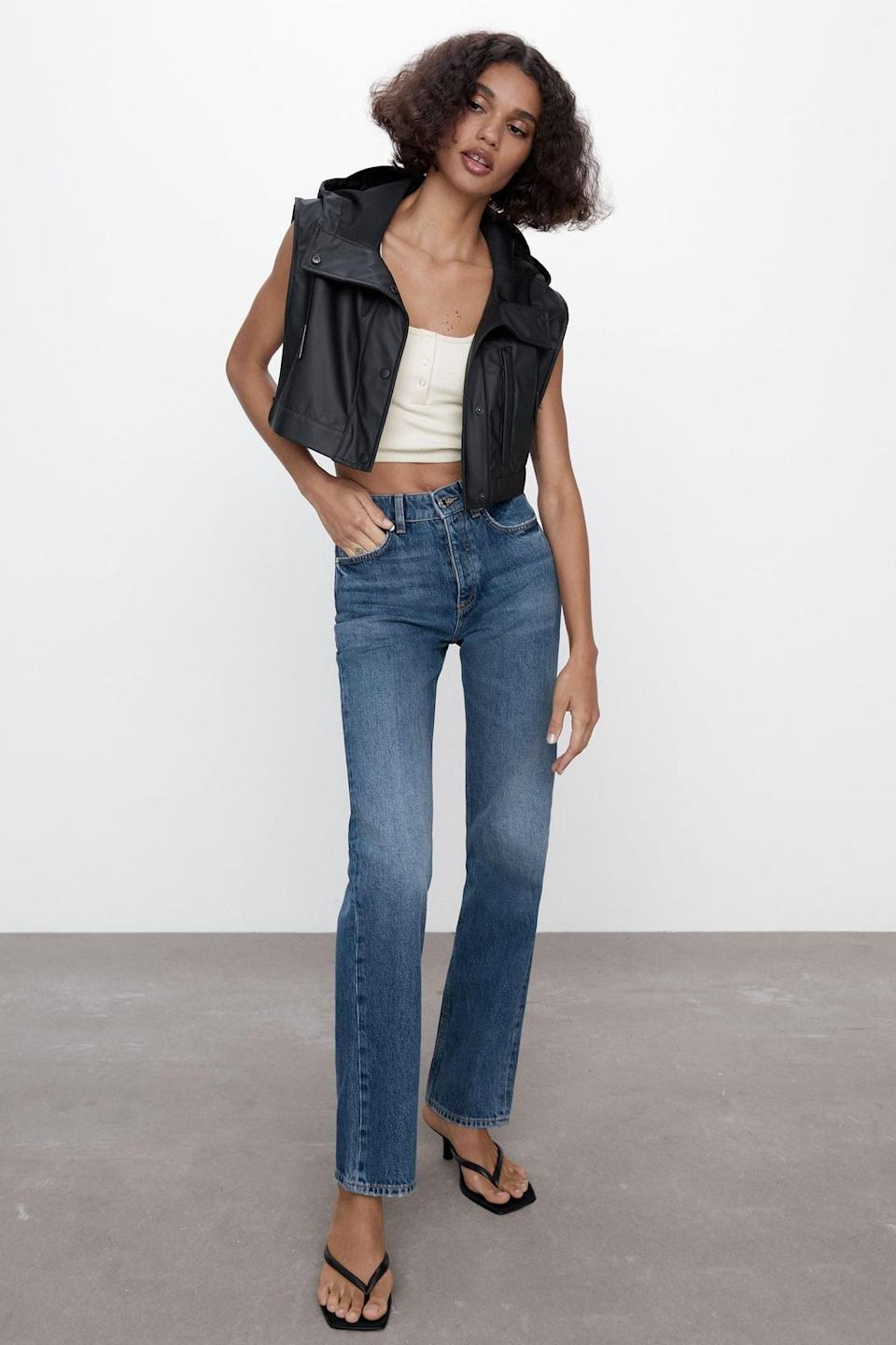 <p>People are obsessed with Zara jeans, and for good reason; they fit like a dream. You can't go wrong with these classic <span>Zara Hi Rise Straight Leg Jeans</span> ($50).</p>