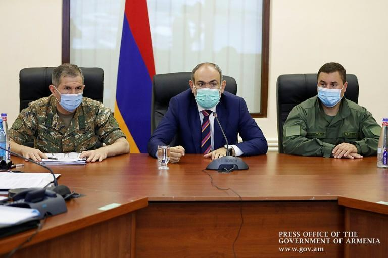 Armenian Prime Minister Nikol Pashinyan met with top military officials in Yerevan over the crisis