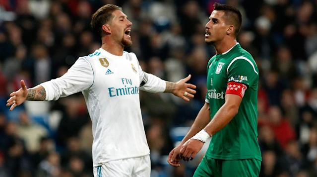 """<p>Real Madrid sets out to exact revenge for its early Copa del Rey ouster when it takes on Leganes on a rescheduled La Liga match on Wednesday.</p><p>The upstart side bounced Real in the quarterfinals, winning 2-1 at the Bernabeu to do so and delivering another setback to the European champions in what has been an uneven season. Real Madrid will hope to strike back in this league matchup, though it will be considerably shorthanded. Starters Marcelo, Luka Modric and Toni Kroos are all out injured, while Zinedine Zidane is resting Cristiano Ronaldo, leaving the result in the hands of Real Madrid's depth, which has come under question this season.</p><p>Real Madrid enters a point out of third place, while Leganes is in 13th, a safe 11 points clear of the relegation zone.</p><p>Here's how to watch the match:</p><p><strong>Time</strong>: 12:45 p.m. ET</p><p><strong>TV</strong>: beIN Sports</p><p><strong>Live Stream</strong>: You can watch the match live via FuboTV. <a href=""""https://www.fubo.tv/lp/planet-futbol/"""" rel=""""nofollow noopener"""" target=""""_blank"""" data-ylk=""""slk:Sign up here for a free seven-day trial"""" class=""""link rapid-noclick-resp"""">Sign up here for a free seven-day trial</a>.</p>"""