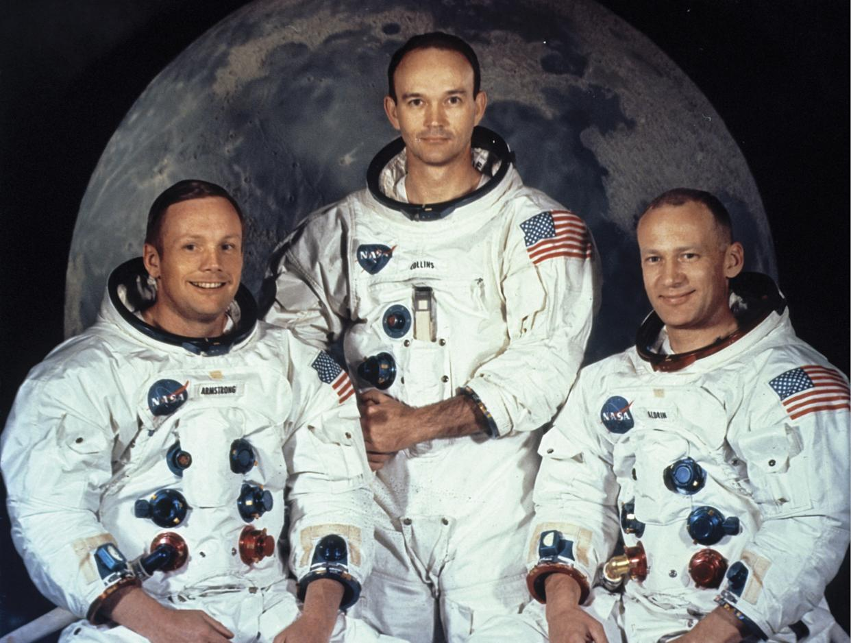 Apollo 11 astronauts Neil Armstrong, Michael Collins and Buzz Aldrin | Encyclopaedia Britannica/Universal Images Group/Getty