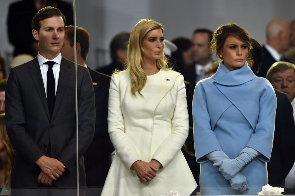 At the inauguration, the family order was very different. Photo: Getty Images