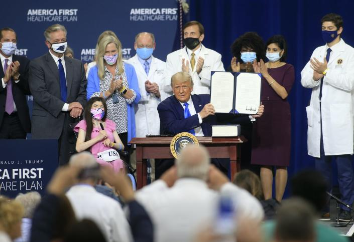 Trump health care executive order event