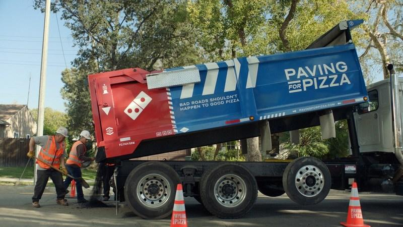 Domino's now paving potholes to protect pizzas
