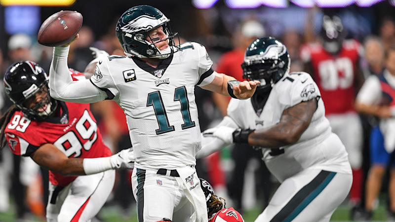 Carson Wentz joins a growing list of injured Eagles on Sunday Night Football