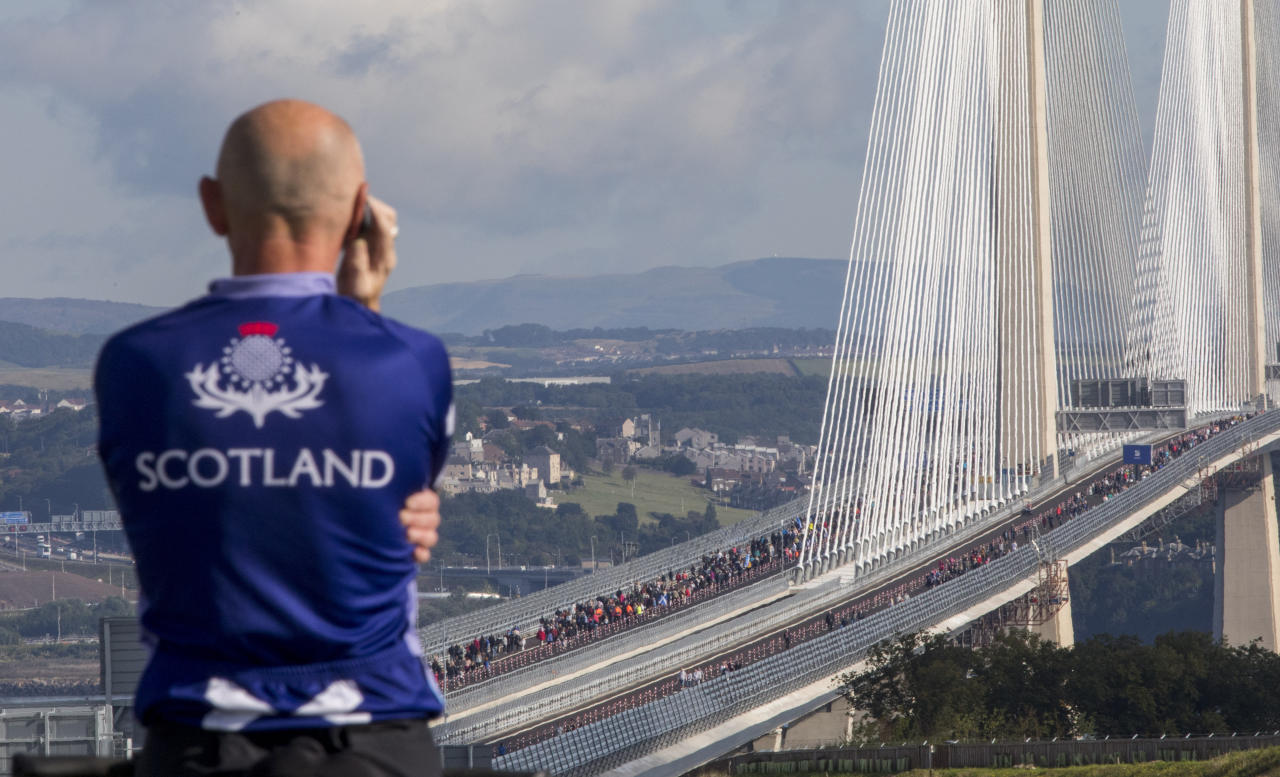 Queen officially opens new £1.35bn Queensferry Crossing