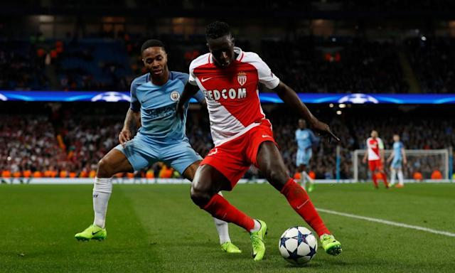"""<span class=""""element-image__caption"""">Benjamin Mendy, right, was part of the Monaco team that outclassed Manchester City in the last 16 of the Champions League this season.</span> <span class=""""element-image__credit"""">Photograph: Lee Smith/Reuters</span>"""