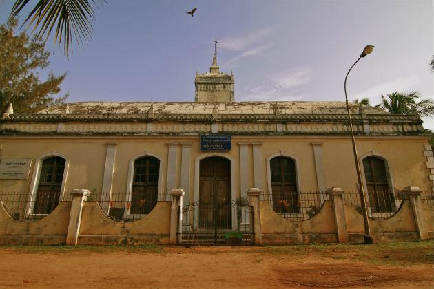 "The centuries-old Zion Church in Tranquebar has survived the ravages of time.<br><br>Read more about <a target=""_blank"" href=""http://in.lifestyle.yahoo.com/blogs/traveler/tranquebar-town-singing-waves-042732852.html"">Tranquebar</a> on the Traveler blog<br><br>Photo: Anand Yegnaswami/ <a target=""_blank"" href=""http://thegreenogre.blogspot.com"">The Green Ogre</a>"