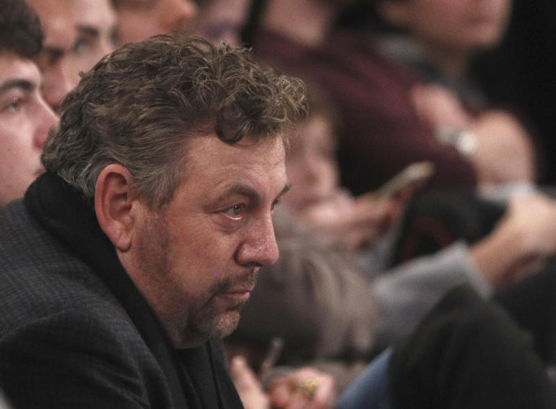 James Dolan is being James Dolan again, which means he's angry at things that he actually caused. (Photo by Paul Bereswill/Getty Images)