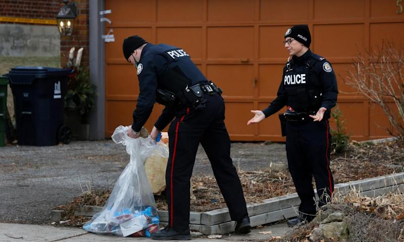 police guard house they searched in toronto