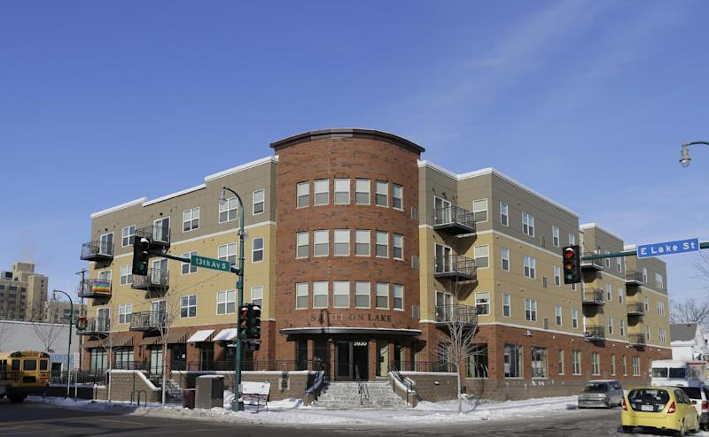 This Dec. 12, 2013 photo shows Spirit on Lake, an affordable housing complex marketed to older members of the gay, lesbian, bisexual and transgender community, in Minneapolis, Minn. (AP Photo/Ann Heisenfelt)
