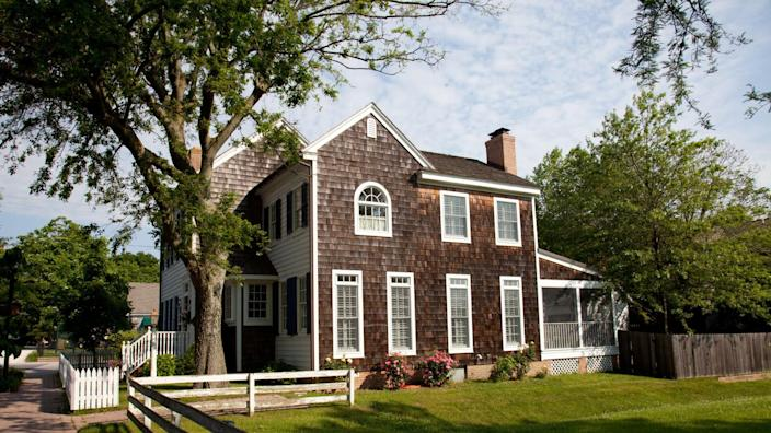 Residential property located in the historic section of Lewes, Delaware.