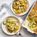 <p>Pesto adds fresh herbal flavor to this zucchini and squash casserole. This easy summer casserole is perfect for when you have a bounty of fresh garden zucchini and summer squash.</p>