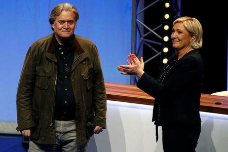 Bannon endorses goals of French far-right party