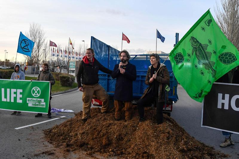 XR activists have been tipped over the edge by the lack of progress at the talks (AFP via Getty Images)