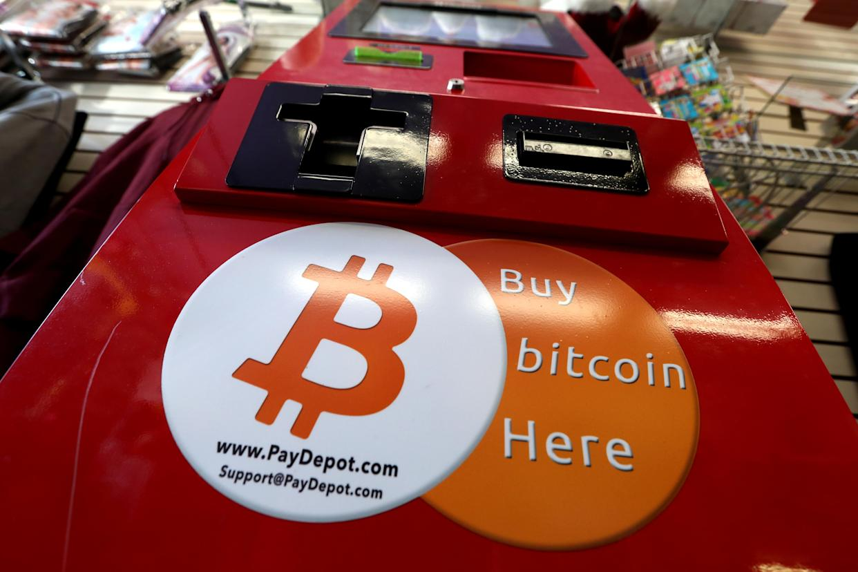 A PayDepot Bitcoin ATM machine is pictured in a shop in Union City, New Jersey, US