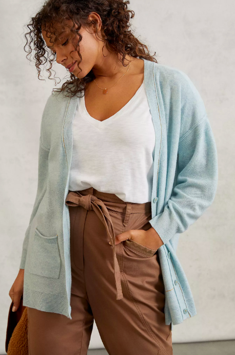 Pilcro Kelly Oversized Cashmere Cardigan. Image via Anthropologie.