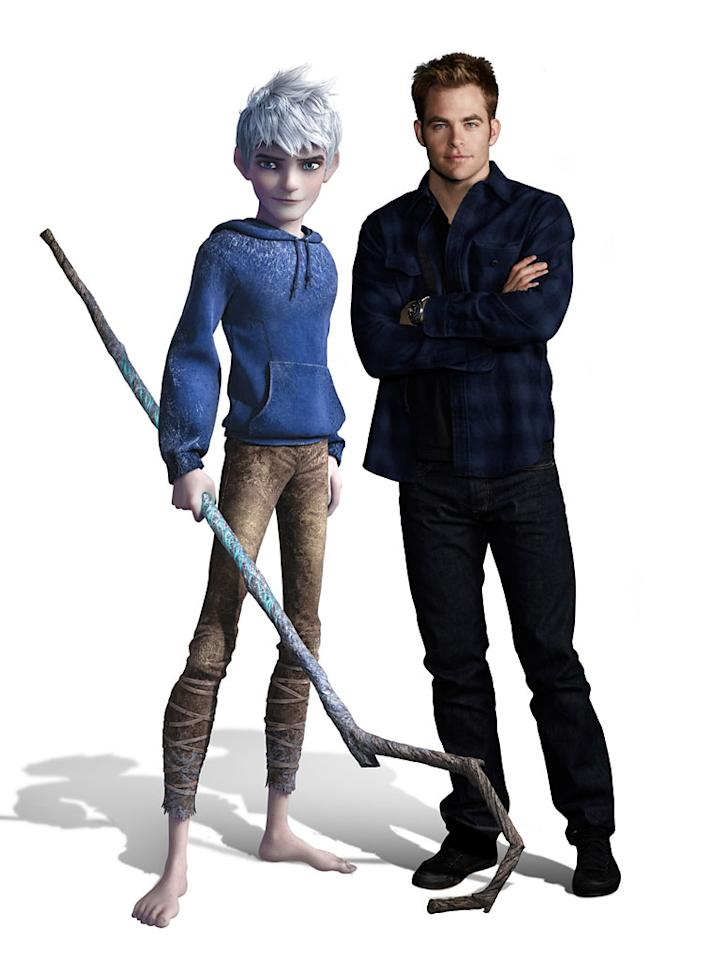 "Chris Pine as Jack Frost in DreamWorks' ""Rise of the Guardians"" - 2012"