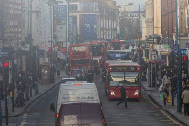 Putney High Street earlier this week ( Elizabeth Dalziel/Greenpeace)