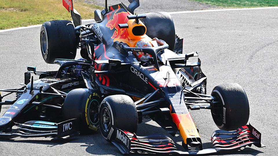 Max Verstappen's collision with championship rival earned him a three-place grid penalty for the upcoming Russian Grand Prix. (Photo by Peter Van Egmond/Getty Images)