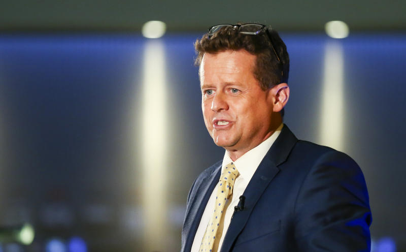 Presenter Mike Bushell during the British Swimming Awards 2018 at the Point, Lancashire County Cricket Club, Manchester