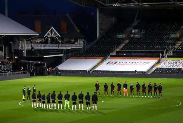 There was a two-minute  silence in memory of the Duke of Edinburgh prior to kick off