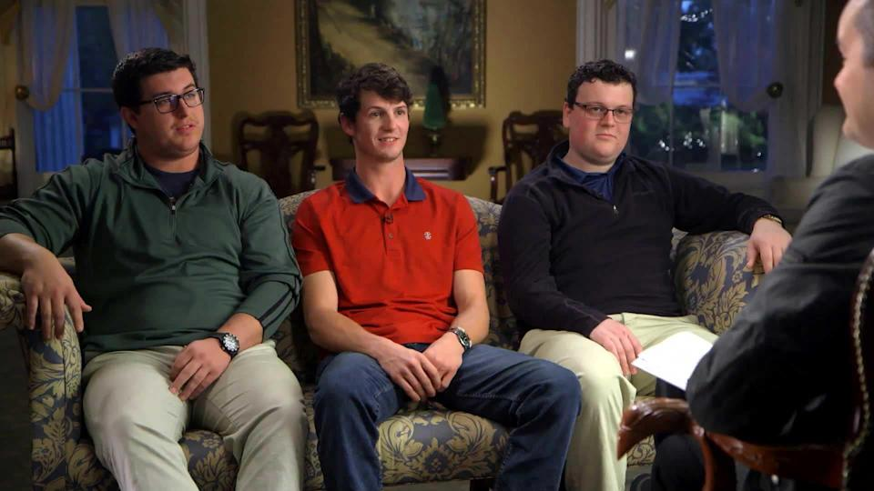 From left, Chase Pruitt, Thomas Skinner and Andrew McKee / Credit: CBS News